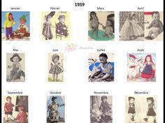 Modes et Travaux - Patrons poupée 1959