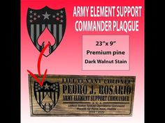 custom military signs | ARMY ELEMENT SUPPORT COMMANDER SIGN Farm Signs, Pub Signs, Us Army Reserve, Home Bar Signs, Military Signs, Special Operations Command, Custom Wooden Signs, Reserved Signs, Us Marine Corps