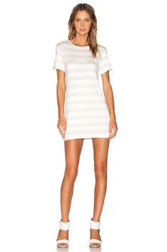 7390b03a7f8d amour vert Brigette T-Shirt Dress in Heather Grey Stripe Grey Stripes