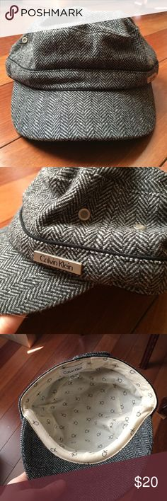 NWOT Calvin Klein Tweed Cap Never worn tried or washed. Adjustable. Tweed wool, inner lining. Calvin Klein Accessories Hats