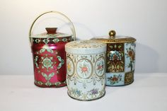 Vintage Candy Tins Storage Containers with Lid by SeacoastVintage