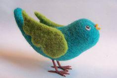 Bluebird Needle Felted