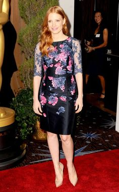 Jessica Chastain, 2013 Oscars: Nominees Luncheon