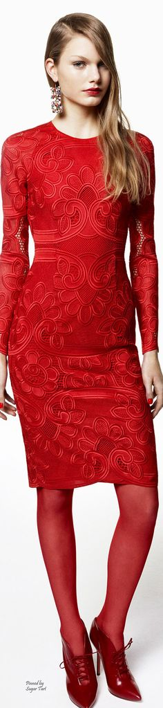 Red dress for Valentine's Day  - Blumarine Pre-Fall 2015
