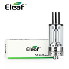 The ELEAF GS AIR-M Atomizer is great choice for beginners and casual vapers who use the iSTICK battery! It features an ample 4ml capacity, it is suitable for use between 8-20W and does not produce any dry or burnt hits!