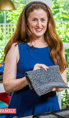 'Elizabeth' demonstrating a craft idea on Home & Family