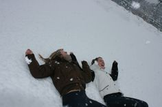 My two snow angels!