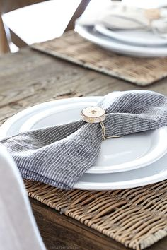These DIY Rustic Birch Napkin RIngs are perfect for simplistic entertaining. A…