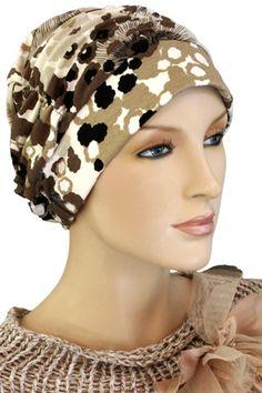 $19.50 - Geo Petals Shirred Cap     #cancer #chemo #alopecia #hair loss