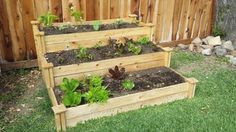 Greenes Fence 4 ft. x 4 ft. x 21 in. 3-Tiered Cedar Raised Garden Bed RC4T3 at The Home Depot - Mobile