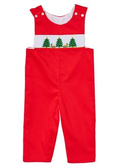 Christmas tree red boys overall children childrenclothing christmas