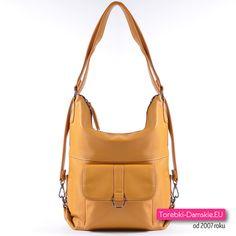 9d0034bd5c7cf Musztardowa torebka i plecak damski w jednym - modny odcień koloru żółtego!