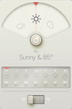 Beautiful Weather App // Apple
