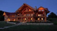 pioneer log home maisons en bois pinterest maison maisons en bois et b ches. Black Bedroom Furniture Sets. Home Design Ideas