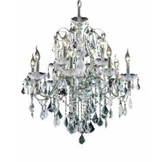 Elegant Lighting 12-Light Chrome Chandelier with Clear Crystal EL2015D28C/RC at The Home Depot - Mobile