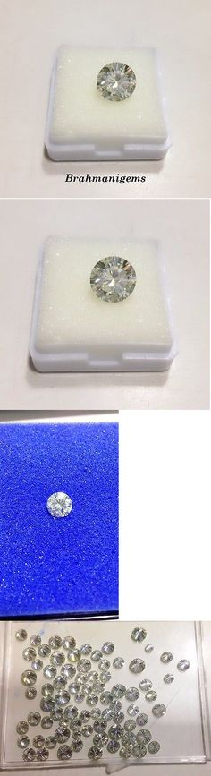 Lab-Created Diamonds 152823: 2.86 Ct Loose Moissanite Off-White Color Round Brilliant Cut Use For Ring -> BUY IT NOW ONLY: $34.99 on eBay!