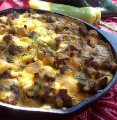 Mountain man skillet camping breakfast recipe
