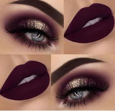 gold & burgundy plum