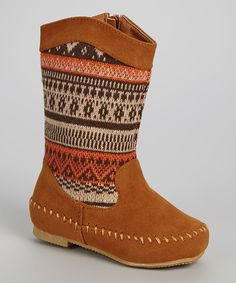 Look at this Tan Tribal Boot on #zulily today!
