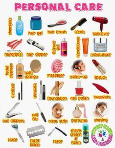 Resultado de imagen para worksheets of personal items