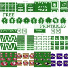 Free FOOTBALL Party Printables – Full Set   Printabelle