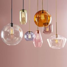 west elm Sculptural Glass Globe pendant – Clear ) - All For Decoration Traditional Pendant Lighting, Modern Pendant Light, Glass Pendant Light, Globe Pendant, Glass Pendants, Pendant Lamps, Pendant Lighting Bedroom, Kitchen Pendant Lighting, Wood Dining Bench
