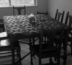 This was my great great grandmothers table from the 1920's :'D http://serina.tumblr.com/tagged/Damask-All-The-Things