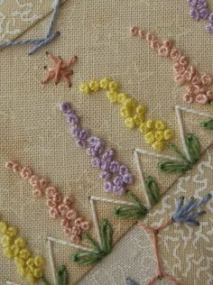 Resultado de imagem para leisha' s galaxy embroidery - good idea for edge of dish towel