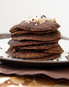 Almond Joy or Mounds Pancakes - Healthy and gluten free!