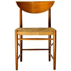 Peter Hvidt and Orla Mølgaard-Nielsen Teak Accent Chair, 1955 | From a unique collection of antique and modern side chairs at https://www.1stdibs.com/furniture/seating/side-chairs/