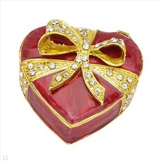 $15.00  Wonderful Accessories with Stal Made of Yellow Base metal and Red Enamel 2.3in