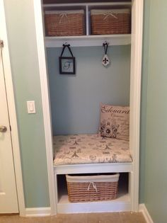 closet conversion | Mud room closet conversion | Dreaming for Someday