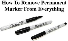 Permanent Marker Remover Tips and Tricks | The WHOot