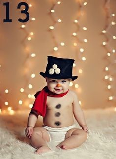 Snowman-baby! Too cute!