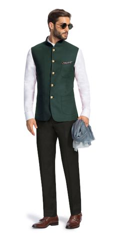 Make a style statement with our wide range of customized ethnic wear for men. View finely tailored custom made sherwani bandhgala jacket and more at Herringbone & Sui. Wedding Dresses Men Indian, Formal Dresses For Men, Formal Men Outfit, Wedding Dress Men, Blue Blazer Outfit Men, Blazer Outfits Men, Stylish Mens Outfits, Nehru Jacket For Men, Waistcoat Men