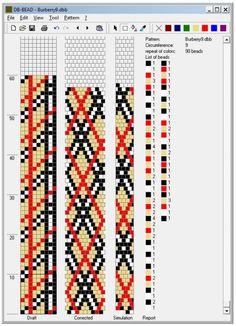 161 Besten Muster Für Schlauchketten Bilder Auf Pinterest Bead