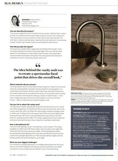 ZEF03 Zen deck-mounted two-hole basin taps with swan spout in vintage brass from The Watermark Collection. http://www.thewatermarkcollection.eu/ Homes & Gardens December 2016