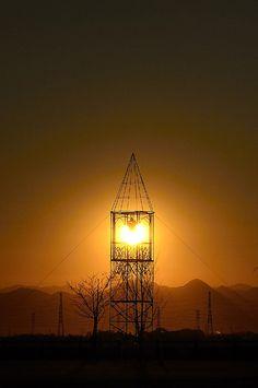 携帯版 ハートに灯る夕陽のランタン♪