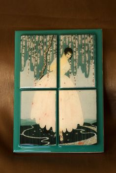 Tile Board-- Ballerina Dancer | OnceWasUpcyclables - Mixed Media on ArtFire