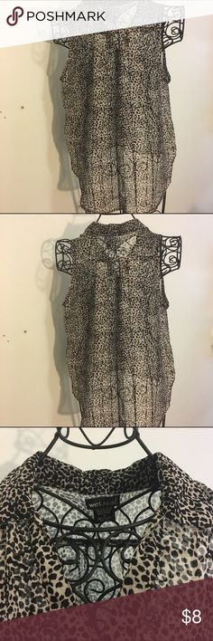 Sheer black and white top Button up flowy shirt! So nice! Worn once! Tops Blouses