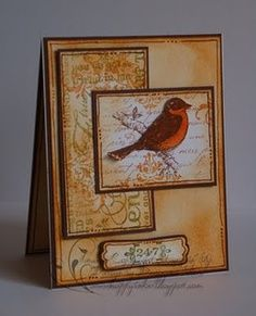 handmade cards birds - Google Search