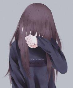 Anime girl, digital art, and manga girl image Cartoon Girl Crying, Anime Girl Crying, Sad Anime Girl, Anime Art Girl, Girl Cartoon, Anime Love, Anime Girls, Dark Anime, Dibujos Anime Chibi