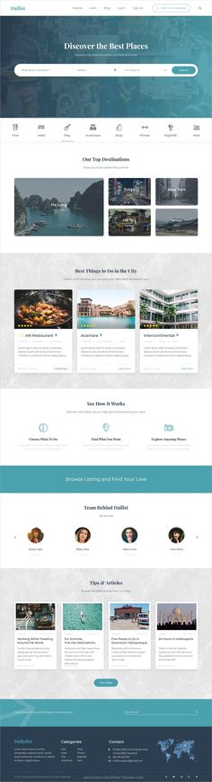 Dailist is clean and modern design responsive #bootstrap template for #directory and listing website download now..