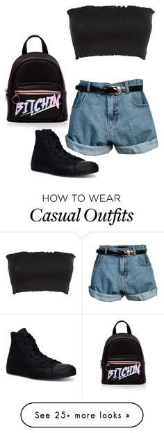 """#568"" by hipliketiffany on Polyvore featuring Retrò and Converse"