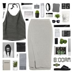 """""""8:00am vibes"""" by sarahkatewest ❤ liked on Polyvore featuring Donna Karan, London Rebel, Crate and Barrel, Christian Dior, Topshop, Nearly Natural, John Lewis, Shinola, philosophy and Manic Panic"""