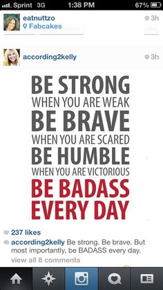 Strong Brave Humble 5 x 7 Print by QuotableLife on Etsy Happy Quotes, Great Quotes, Quotes To Live By, Life Quotes, Funny Quotes, Crossfit Quotes, Crossfit Motivation, Inspiring Quotes About Life, Inspirational Quotes