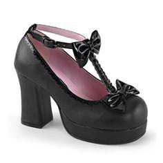 GOTHIKA-04 T-Strap Gothic Platform Shoes