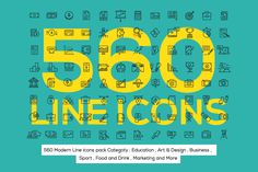 560 Modern Line icons Pack on Behance