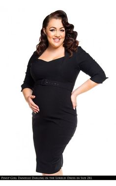 bf57f79a1f33e Lorelei Dress in Black Bengaline - Maternity Friendly | Pinup Girl Clothing  130.00