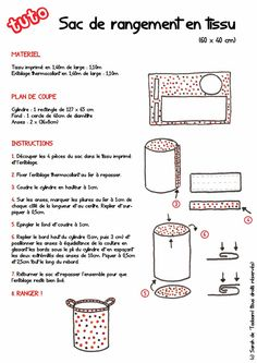 tuto-sac-a-linge. Coin Couture, Baby Couture, Couture Sewing, Sewing For Kids, Baby Sewing, Diy For Kids, Sewing Hacks, Sewing Tutorials, Sewing Projects